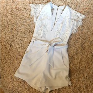 Pants - White Lace Romper